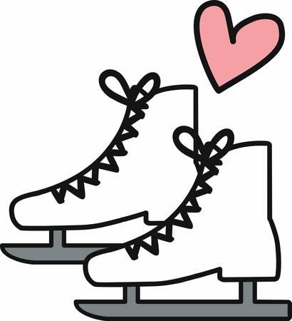I love figure skating enjoy those moments with this designs Ilustração