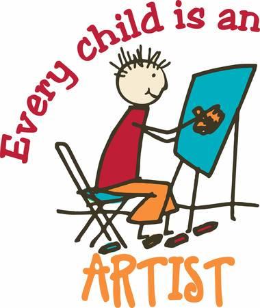 heros: Little boys are just super heros in paintings