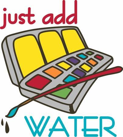Pintura en el color del agua es como caminar en la cuerda floja se debe lograr un equilibrio perfecto entre lo que la pintura quiere hacer y lo que el artista quiere hacer Foto de archivo - 41151006