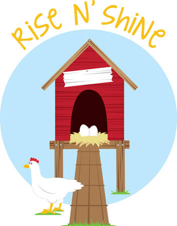 chicken coop: Protect your chicken with this coop designs by Concord Illustration