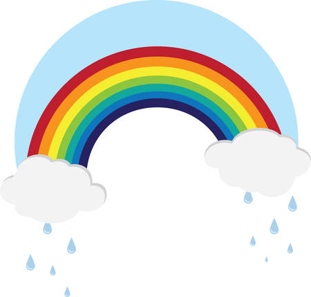 Keep looking upThere may be a Rainbow waiting for You Ilustracja