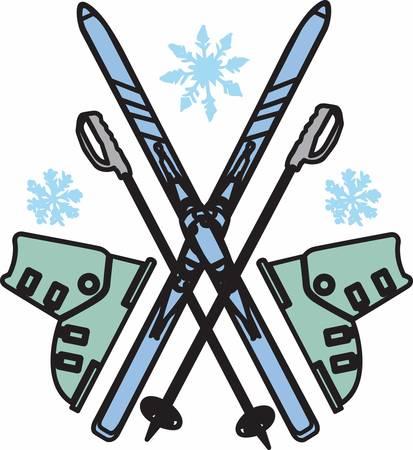 Make skiing look fun  easy pick those designs by concord Illusztráció