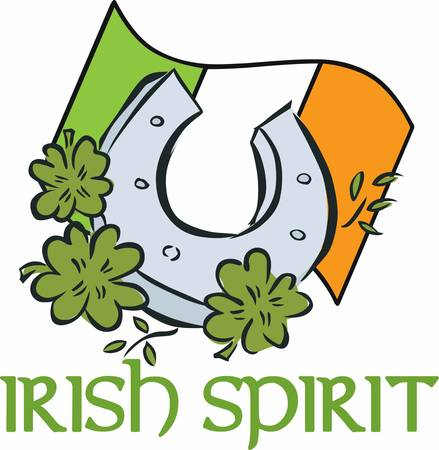 Attract good luck with this lucky Ireland horseshoe design by Concord