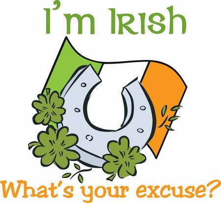 erin: Attract good luck with this lucky Ireland horseshoe design by Concord