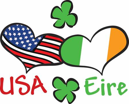 eire: When Irish Hearts are happy all the world seems bright Have this designs by Concord Illustration