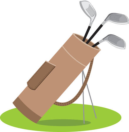 caddy: The object of golf is not just to win. It is to play like a gentleman and win. Illustration