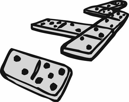 Domino pieces generally refers to the collective gaming pieces making up a domino set or to the subcategory of tile games played with domino pieces pick those designs by concord Ilustração