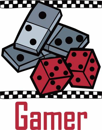 A domino set is a generic gaming device similar to playing cards or dice pick those designs by concord