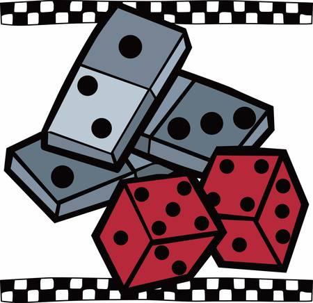 도미노 세트는 카드 나 주사위와 유사한 일반적인 게임 장치로 콩코드로 그 디자인을 선택합니다