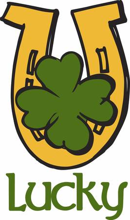 good luck charm: A Clover horseshoe or a representation of one regarded as bringing good luck pick those designs by concord