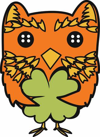 saint paddys day: A nocturnal bird of prey with large eyes a facial disc a hooked beak and typically a loud hooting call pick those designs by concord