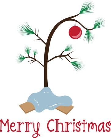 The perfect Christmas tree all Christmas trees are perfect. Ilustração