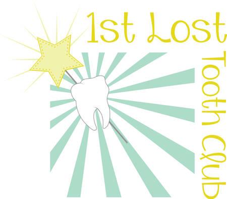 Ik verloor mijn 1 tand Im klaar voor de tandenfee om mij te bezoeken. Geef dit aan uw kind als ze verliezen hun tanden. Zij zal zo opgewonden zijn