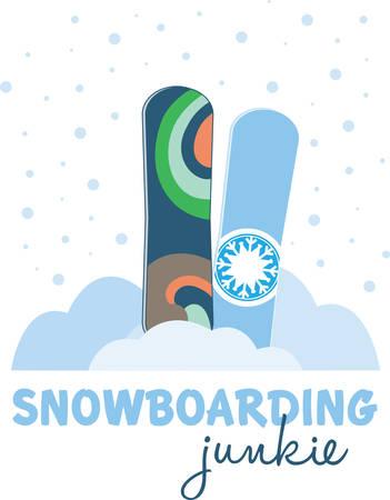 Un tablero parecido a un corto esquí amplio utilizado para deslizarse cuesta abajo en la nieve recoger esos diseños de la concordia Foto de archivo - 41239340