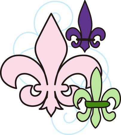 This classic fleur de lis is such a lovely decoration.  This French flower is perfect for any project.