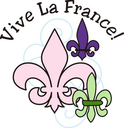 lis: This classic fleur de lis is such a lovely decoration.  This French flower is perfect for any project.
