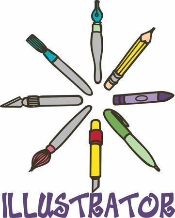 craft supplies: To be a teacher is greatest work of art. Illustration