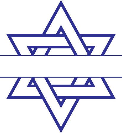 아름다운 다윗의 별과 함께 하누카에 아름다운 빛을 가져 오십시오.