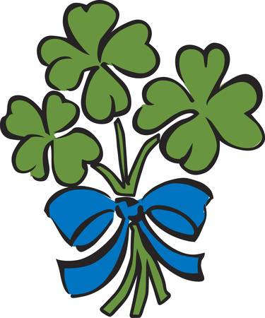 st paddys: Always keep that happy attitude. Pretend that you are holding a beautiful fragrant bouquet. Illustration