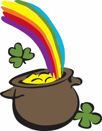 saint paddys day: May your journey through life be vibrant and full of colorful rainbows.
