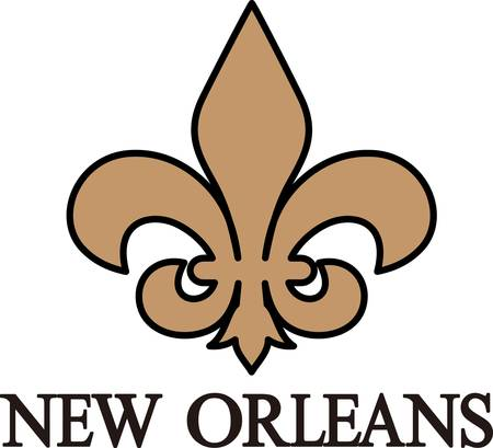 new orleans: This classic fleur de lis is such a lovely decoration.  This French flower is perfect for any project.