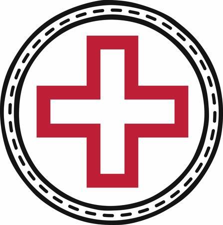 rood kruis: De Bloemen Rode Kruis geeft de mensen in nood hoop op redding of medische hulp halen die ontwerpen door eendracht