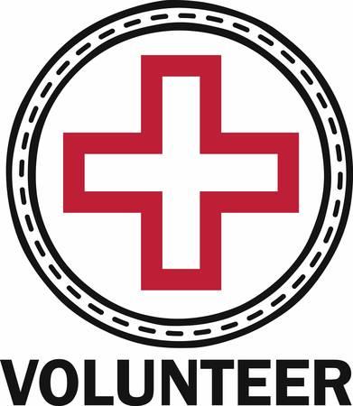 cruz roja: La Cruz Roja floral da los de esperanza necesidad de salvamento y atenci�n m�dica recoger esos dise�os de la concordia Vectores