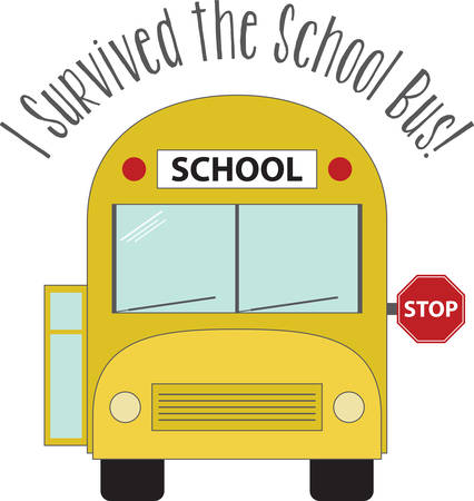 School Bus specifically designed and manufactured for student transport carrying students to and from school and school events