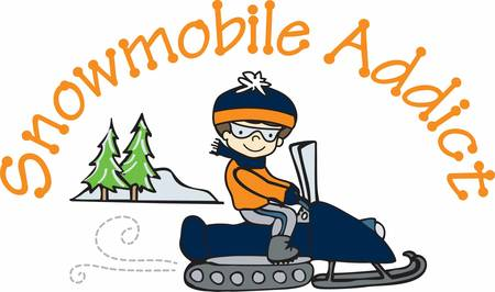 Snowmobile riding is an awesome experience in winter pick these designs from concord collections  Иллюстрация