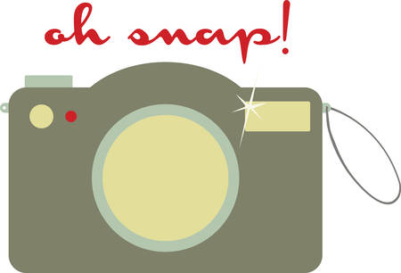 snaps: a device for recording visual images in the form of photographs film or video signals. pick those designs by concord. Illustration