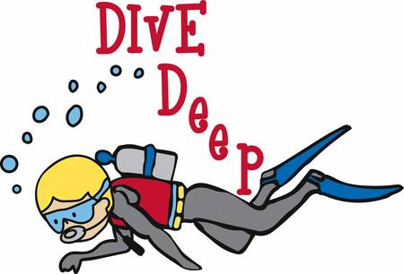 The most enjoyable experience in the sea is scuba diving get these designs from concord collections Stock Illustratie
