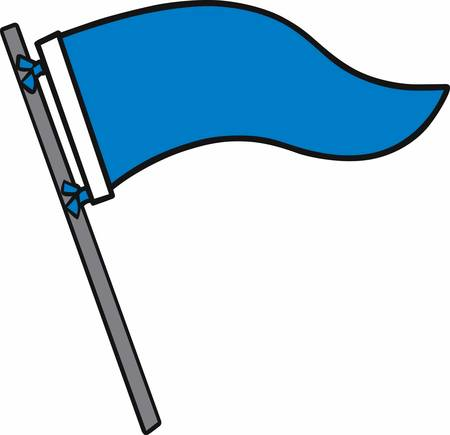 Blue flags are used for many purposes cull these designs from concord collections Stok Fotoğraf - 41240480