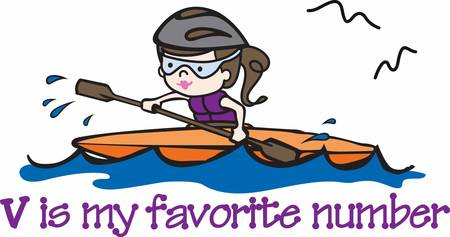 favorite number: Pick these rafting girl designs from concord collections  Illustration