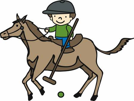 wins: A polo horse wins with his character get these designs from Concord collections.