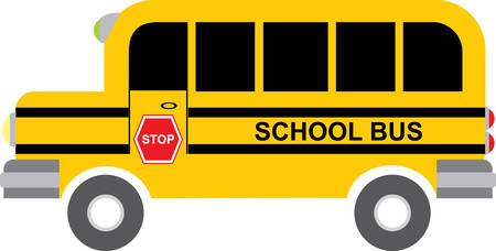 ir al colegio: Los ni�os les encanta ir la escuela en autob�s agarrar estos dise�os de autobuses procedentes de colecciones concordia