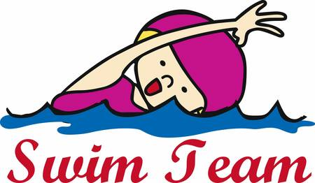 Get these swimming girl designs from Concord collections
