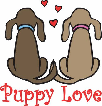 cute puppy: Pick these lovely and cute puppy love designs from concord collections Illustration