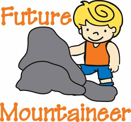 Pick these rock climber boy designs from concord collections