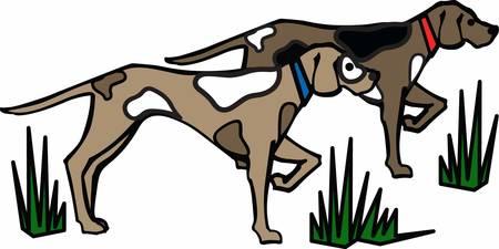 Hond is de voorkeur jacht metgezel voor alle Stock Illustratie