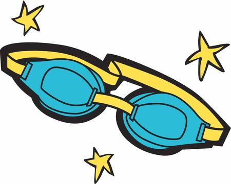 Swim goggles helps us to prevent water from getting in the eyes while swimming. Illusztráció