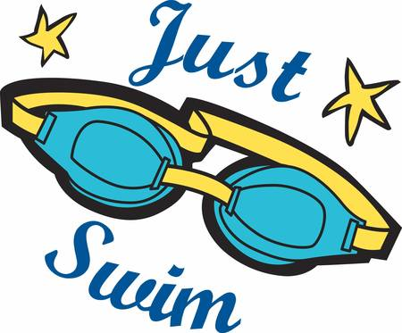 helps: Swim goggles helps us to prevent water from getting in the eyes while swimming. Illustration