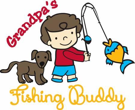 """""""Vang deze jongen het vangen van vis ontwerpen uit Concord collecties"""""""