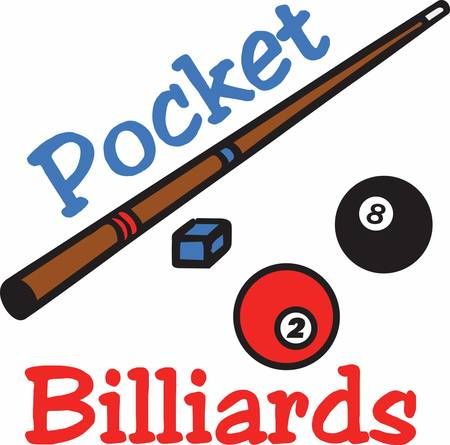 Ball stick is the most important tool in Billiards grab these designs from concord collections Stock Vector - 41241148