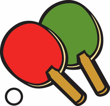 Table tennis is lovely game which needs mental skills  Иллюстрация