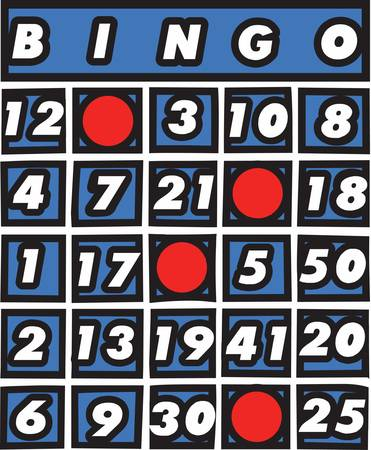 Bingo cards are used all over the world for different kind of card games Ilustração