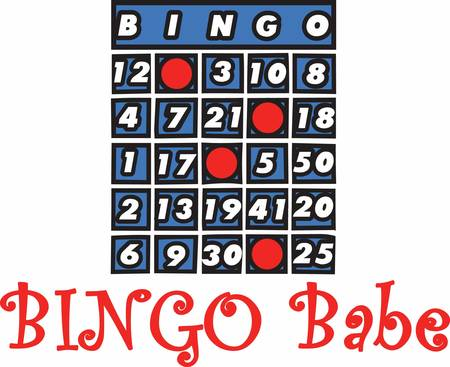 Bingo cards are used all over the world for different kind of card games Stock Illustratie