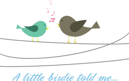 birds on a wire: Singing birds on a wire.