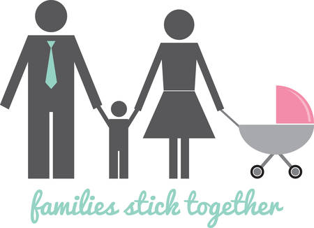 perambulator: Sign people family with baby carriage