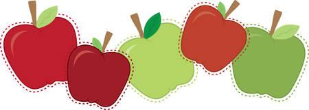 混合サイズとりんごの境界線の色。