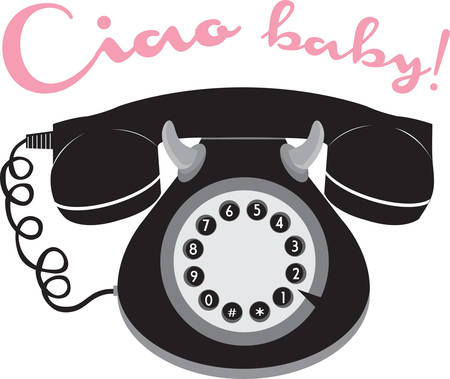 Call anyone with stylish retro telephone. Pick those design by Concord. Illustration